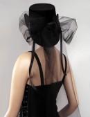 Женская шляпа из бархата (502055) - цена, 4
