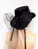 Женская шляпа из бархата (502055) - оригинальная одежда, 2