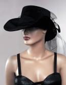 Женская шляпа из бархата (502055) - материал, 6