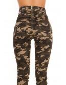 Камуфляжные джинсы с высоким поясом KouCla (108116) - 3, 8