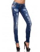 Зауженные джинсы с цепями (108037) - материал, 6
