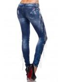 Зауженные джинсы с цепями (108037) - цена, 4