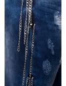 Зауженные джинсы с цепями (108037) - 3, 8