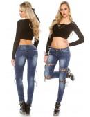 Узкие женские джинсы со шнуровками MF8072 (108072) - материал, 6