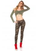 Камуфляжные женские джинсы MF8078 (108078) - оригинальная одежда, 2