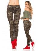 Камуфляжные женские джинсы MF8078 (108078) - foto