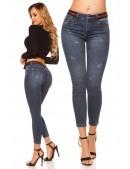 Узкие джинсы со встроенным поясом MF8096 (108096) - foto