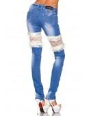 Джинсы с кружевом и шнуровкой (108041) - оригинальная одежда, 2