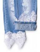 Джинсовые капри с кружевом (109015) - оригинальная одежда, 2