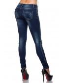 Узкие джинсы со стразами SC8031 (108031) - оригинальная одежда, 2