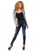 Узкие джинсы со стразами SC8031 (108031) - цена, 4