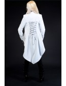 Белый фрак со шнуровкой (113018) - оригинальная одежда, 2