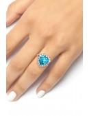 Кольцо с голубым камнем XJ8186 (708186) - цена, 4