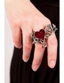 Оловянное кольцо с камнями Swarovski AG180 (AGR180) - оригинальная одежда, 2