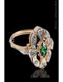 Кольцо с позолотой и родием Jenavi (jena251q0a) - foto