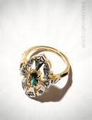 Кольцо с позолотой и родием Jenavi (jena251q0a) - материал, 6