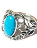 Кольцо с бирюзой и камнями Jenavi (jene62730b) - материал, 6