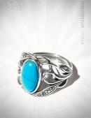 Кольцо с бирюзой и камнями Jenavi (jene62730b) - цена, 4