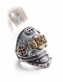 Массивное кольцо в стиле Хай-тек (ручная работа) (AGR181) - foto