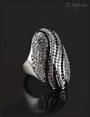 Овальное кольцо с камнями (708174) - foto
