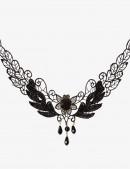 Ажурное черное колье (706148) - цена, 4