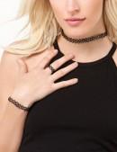Ожерелье-чокер с кольцом и браслетом (717002) - оригинальная одежда, 2