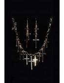 Колье и серьги с крестиками MF7004 (717004) - foto