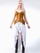 Белое платье с жемчугом (105060) - 3, 8