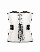 Жаккардовый корсет с отделкой из кожи (CGE118) - оригинальная одежда, 2