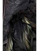 Корсет Gothic Crow Lady (121171) - материал, 6