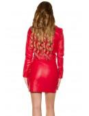Красная кожаная куртка-косуха KC2029 (112029) - оригинальная одежда, 2