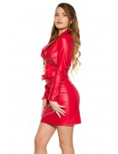 Красная кожаная куртка-косуха KC2029 (112029) - цена, 4