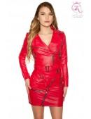 Красная кожаная куртка-косуха KC2029 (112029) - foto