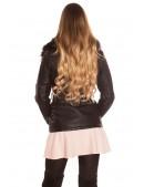 Зимняя кожаная куртка с мехом внутри и на воротнике (112126) - оригинальная одежда, 2