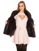 Зимняя кожаная куртка с мехом внутри и на воротнике (112126) - 3, 8