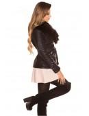 Зимняя кожаная куртка с мехом внутри и на воротнике (112126) - цена, 4