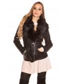 Зимняя кожаная куртка с мехом внутри и на воротнике (112126) - материал, 6