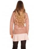 Зимняя кожаная куртка с мехом Antique Pink (112127) - оригинальная одежда, 2