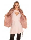 Зимняя кожаная куртка с мехом Antique Pink (112127) - материал, 6