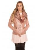 Зимняя кожаная куртка с мехом Antique Pink (112127) - цена, 4