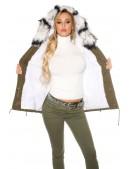 Зимняя женская парка с меховым воротником MF2129 (112129) - 4, 10