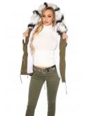 Зимняя женская парка с меховым воротником MF2129 (112129) - оригинальная одежда, 2