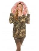 Камуфляжная зимняя куртка карго с мехом MF2130 (112130) - foto