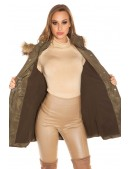 Зимняя женская куртка цвета хаки MF2135 (112135) - материал, 6