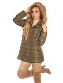 Зимняя женская куртка цвета хаки MF2135 (112135) - 3, 8