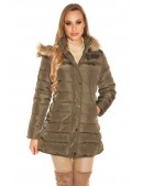 Зимняя женская куртка цвета хаки MF2135 (112135) - foto