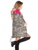 Зимняя женская парка с мехом цвета фуксии (112136) - оригинальная одежда, 2