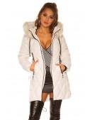 Зимняя куртка с капюшоном и мехом MF138 (112138) - материал, 6
