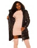 Зимняя стеганая куртка под кожу M139 (112139) - 3, 8