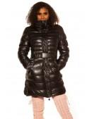 Зимняя стеганая куртка под кожу M139 (112139) - foto